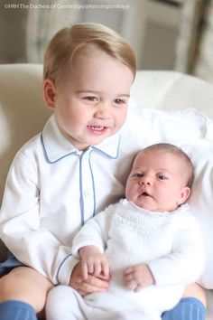 Prince George with his sister princess Charlotte
