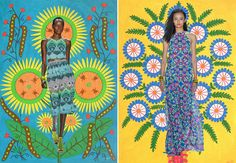 Mara Hoffman's spring collection and Maria Primachenko's folk art