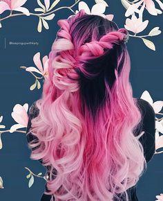 Carnation pink white black