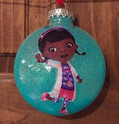 Doc Mcstuffins shatterproof Christmas ornament by kits257 on Etsy