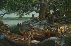 Woodland Indians, Seven Years' War, Great Lakes Region, Giant Tree, Wood Tree, Many Men, Birch Bark, The St, Present Day
