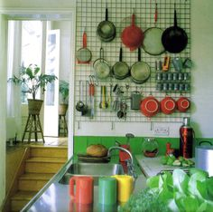 kitchen pegboard design inspiration - Kitchen Pegboard Ideas