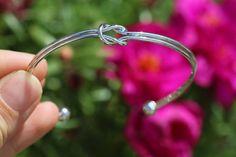 Knot Bracelet Silver Knot Bracelet Cuff Bracelet Bangle