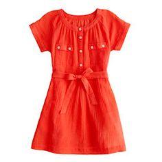 Girls' gauze camp dress