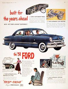 Ford Monarch Sedan 1951 For The Years Ahead