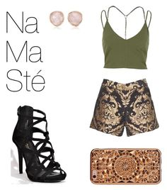 """""""#outfit20 namasté"""" by thefashiongeek101 on Polyvore featuring mode, River Island, Alice + Olivia, Felony Case en Monica Vinader"""