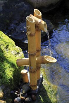 Deer Scarer Bamboo Fountain with Pump