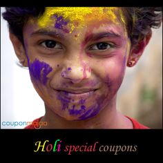 Holi special coupons.. for the colorful you   Check it out --> http://ow.ly/uw0hU
