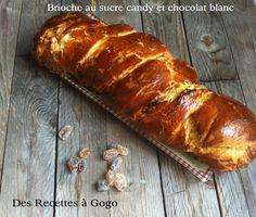 Brioche au sucre candy et au chocolat blanc