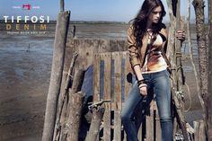Tiffosi brown leather jacket