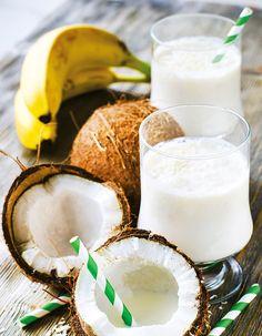 Recette Boisson anti-stress banane coco : Mettez les bananes et le lait de coco dans un mixeur ou un robot culinaire. Mélangez jusqu'à l'obtention d'une préparation homogène. Versez dans un verre et saupoudrez de cannelle, si désiré....