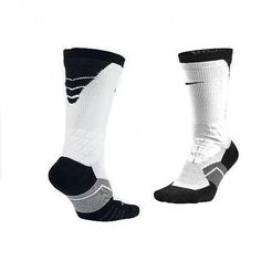 f271da607 Nike Men Elite Vapor DriFIT Black Wt Football Crew Socks M 6-8 L 8-12  SX4924-100 #Nike #AnkleSock. J&M Online Boutique