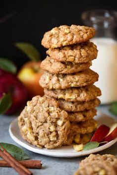 Apple+Cinnamon+Oatmeal+Cookies