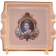 Carlton Ware Queen Elizabeth II Jubilee Ashtray