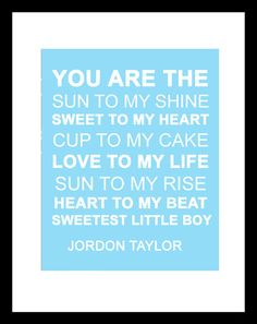 Baby Boy Nursery Art Decor Letters Wall Quotes by Eyecharts, $18.00