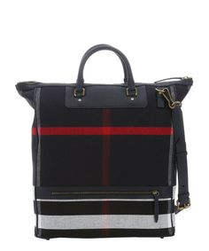 64e4ad990c0c Burberry navy and red check canvas  Richland  large shopping tote Men Bags
