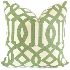 Kelly Wearstler Green Trelliage Imperial Trellis Decorative Pillow Covers Square 18x18, 20x20 or 22x22, 14x20 or 12x24 Euroshams or Lumbar