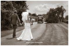 #bride and #groom at #rudstonewalk #weddingcars