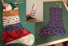 Pinterest project #3 - the falling flakes stocking (original pin: Bluebell Quilting)