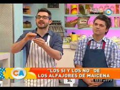 Los sí y los no de los alfajores de maizena - YouTube  - Cocineros Argentinos -  Ingredientes:  - 200gr manteca pomada - 200gr azúcar impalpable - 2 yemas - 1 cdta esencia de vainilla - ralladura de limón o naranja - 3 huevos - 400gr Maizena + 200gr harina 0000  (ó 600gr de Maizena) - 1cdta polvo leudante (Royal) - 1cdta sal   -   Reposar 30' en heladera, envuelta en film. Estirar  hasta unos 4mm de espesor. Hornear a temperatura media por 7-8 minutos.