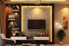 Apartments Interior Designers in Bangalore - SJR Palazza Tv Unit Interior Design, Tv Unit Furniture Design, Tv Wall Design, Ceiling Design, Modern Interior Design, Modern Tv Unit Designs, Modern Tv Wall Units, Living Room Tv Unit Designs, Tv Unit Decor
