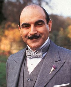 The one and only David Suchet at Hercule Poirot. The man was born to play this part.