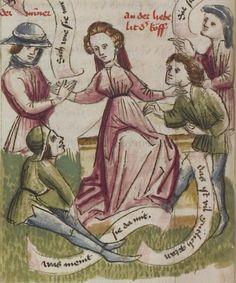 Thomasin <Circlaere>   Welscher Gast (a) Schwaben, um 1460-1470 Cod. Pal. germ. 320 Folio 16v