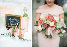 Pink and blush wedding inspiration via Coastal Bride