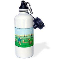 3dRose Farmer Joes Soybean Maze, Sports Water Bottle, 21oz