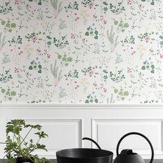 Tapete Simons, Col. 1 | Die TapetenAgentur   #floral #landhaus  #blümchentapete