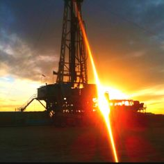 Oil rig sunset!!! ❤️to my girls....your daddy does it for you!!! -his 'hearts'