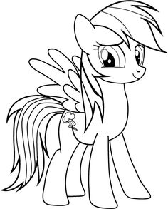 rainbow dash and fluttershy on clouds my little pony coloring
