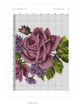 Stitch Patterns, Crochet Patterns, Loom Patterns, Prayer Rug, Cross Stitch Flowers, Purple Roses, Beaded Embroidery, Cross Stitching, Couture
