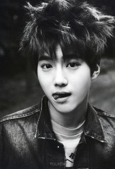 Suho close-up bw is just to..... um.... how do i describe it? handsome?  #exo #joonmyun