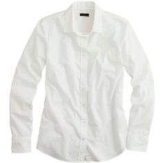 J.Crew Tall Boy Shirt (810 MAD) ❤ liked on Polyvore featuring tops, shirts, blouses, white, button ups, white shirt, white button up shirt, long sleeve tops, long sleeve button shirt and white long sleeve shirt