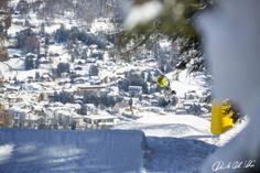 First freestyle ski contest of this season #cortina slopestyle 2014  Davide Dal Mas  www.davidedalmas.com