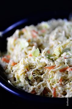 A classic coleslaw recipe. Made of cabbage and topped with a delicious dressing of mayonnaise and vinegar, this coleslaw recipe is one you'll use again and again. Potluck Recipes, Side Dish Recipes, Grilling Recipes, Summer Recipes, Great Recipes, Cooking Recipes, Healthy Recipes, Side Dishes, Easy Recipes
