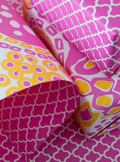 Double-Sided Gift Wrap from Smock Stationary. Tons of colorways.