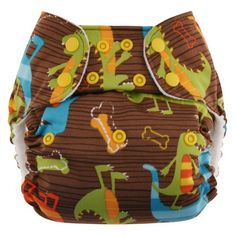 Swaddlebees One Size Simplex All In One Diapers, Dinos