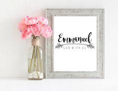 Emmanuel God With Us Matthew 1:23 by prettyprintspiration on Etsy