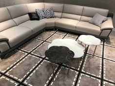 coffee table and side table made from natural marble. Marble Furniture, Home Furniture, Modern Loft, Marble Stones, Industrial Style, Natural Stones, Couch, Living Room, Coffee