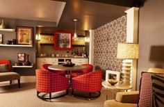 retro style for family room