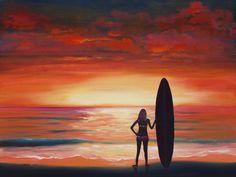 Original Oil Paintings for sale by Artist Larry Wall - Ocean Surf ...