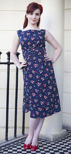 Dollydagger Strawberry Fayre Bustle Dress
