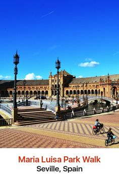 Maria Luisa Park is one of the most beautiful parks in Seville, Spain and most likely the rest of Europe as well. This site was formerly the gardens of a royal palace and is filled with gardens, pools, monuments, historic buildings, fountains and museums.