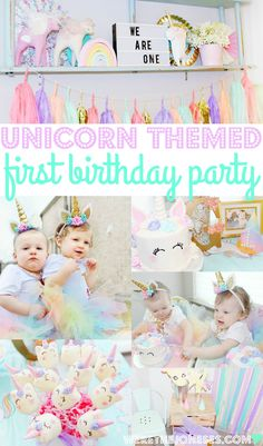 Unicorn Birthday Party Twin Girls First Birthday Unicorn Party Ideas
