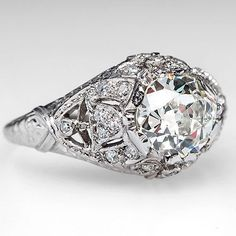 vintage engagement rings 1920s - Google Search