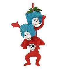 Dr. Seuss: Thing 1 and Thing 2 Ornament  use as the cake topper