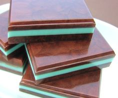 Chocolate Truffle Mint Soaps - Natural Glycerin - Dessert Soap - Mint on the Pillow. $5.00, via Etsy.