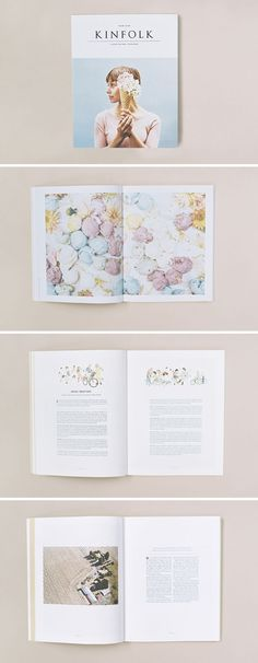This is such a beautiful and charming layout design by Kinfolk Magazine. It looks more like a story or coffee table book than a 'mere' magazine.